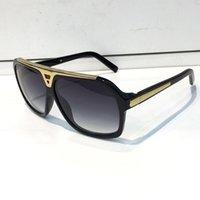 Wholesale Laser Designer - Evidence Luxury Millionaire Sunglasses Retro Vintage Men Brand Designer Sunglasses Shiny Gold Summer Style Laser Logo Gold Plated