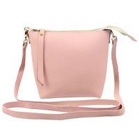 Wholesale trendy cross body bags - Wholesale- Women Color Stitching Strap Vintage Women's Leather Handbag Tote Trendy Shoulder Bags Messenger Bag Cross body bag Ladies Bags