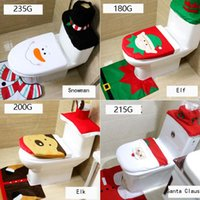 Wholesale Cheap Christmas Reindeer - 4 Styles reindeer  Elf Santa Claus snowman Cheap Christmas Decoration Toilet Seat Cover & Rug Bathroom Full of innocence ~ll
