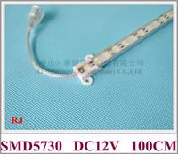 Wholesale Led Rigid Bar Ip65 - LED cabinet light aluminum LED rigid strip light bar hard strip DC12V 100cm   50cm SMD5730 double row IP20   IP65