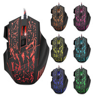 Wholesale High Quality Computer Mouse - High Quality Professional Wired Gaming Mouse 7 Button 3200DPI LED Optical 6D USB Computer Mouse Gamer Mice For PC Laptop