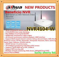 Wholesale Dahua Dvr 4ch - DAHUA 4ch Smart 1U WIFI P2P NVR with Original English Firmware without Logo The Latest Model NVR4104-W