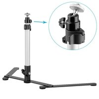 Wholesale camera mounting - Pro Mini Lightweight Tripod Aluminum Camera Table Tripod Support Rig Stand Self Monopod Mount for DSLR Digital Camera&Camcorder