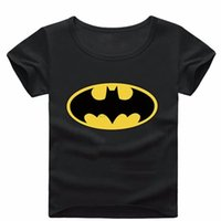 Wholesale Bat Sleeve Girls Shirt - Bat Pattern Short Sleeve T Shirt Boys Clothes Spring Summer Boys kids Girls New Baby Shirt Children Clothing