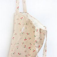 Atacado- YILE Cotton Linen Shopping Tote Shoulder Carrying Bag Eco Reusable Bag Printed Cherry NEW L023