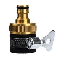 conectores rápidos de agua al por mayor-Al por mayor-Nueva llegada Universal Garden Lawn Lavadora de agua Manguera Conector de tubería Fitting Quick Adapter Boquilla jy8