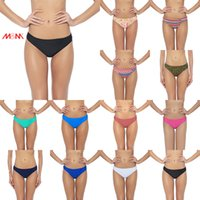 Wholesale Brazilian Swim Bottoms - More Choices Of Color For Women Bikini bottom Thong Swim Briefs Brazilian Biquini Swimming Trunk Split Swimwear Beauty Essentials Pure Trunk