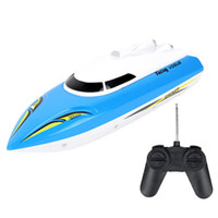 Wholesale Selling Radio Control Toys - Wholesale- RC Speed Racing Boat Radio Remote Control RTR Electric Dual Motor Toy Boats Color Random Hot Selling Great Children Gift