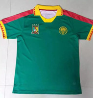 Wholesale National Team Soccer Uniforms - Cameroon National Team Soccer Jerseys Customized Personalized Any Name and Number Home Green Custom Football Shirts Kits Uniforms