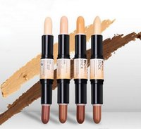 Wholesale Universal Sun Shade - 10pcs 2017 Unique Design Wonder stick highlights and contours shade stick Light Medium Deep Universal NYX concealer Free Shipping