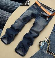 Wholesale Colour Jeans - NEW 2017 men's Jeans fashion blue and balck colour pants Men's jeans tide Men Famous Brand Jeans Cotton
