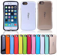 Iface Mall Case Shock Proof Hybride TPU + Silicone Candy Colors Iface Couverture arrière pour Iphone 5 6 6plus 7 7plus Samsung S6 S7 S7 bord S8 S8 plus