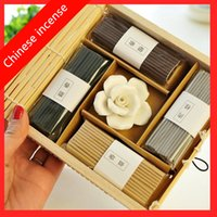 Wholesale Fragrance Vintage - Wholesale- Chinese Incense Vintage Curtain Rose Incense Stick Meditation Help You Sleep Fragrance Fresh Air Aromatherapy Free Shipping