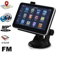 Wholesale Car Navigation Systems Bluetooth - 5 inch Car GPS Navigation Bluetooth AV in Navigator 128M 256MB 4GB 8GB System HD Universal Latest Maps FM Transmitter