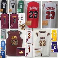 Wholesale Michael New - 2018 New Derrick Rose James Isiah Thomas Kyrie Irving Michael Lonzo Ball Leonard jersey Men's 17-18 New stitched jerseys