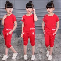 Wholesale New Girls Summer Sets - New summer Gray cotton baby clothes children's clothing kids clothing baby girls clothes short sleeve T-shirt boys clothes