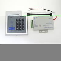 bloqueo magnetico rfid al por mayor-Al por mayor-Full Rfid Door Lock Kit de teclado de control de acceso + Electric magnetic Lock + Power + Button