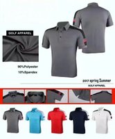 Wholesale Men S Fitted Polo Shirts - 2017 Jl New golf T Shirt Short Sleeve POLO shirt men's summer dry fit breathable sports shirts 5 colors OEM available