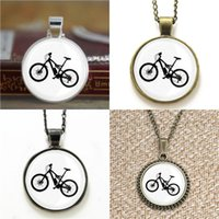 Wholesale mountain bike chains - 10pcs Mountain bike Glass Photo Necklace keyring bookmark cufflink earring bracelet