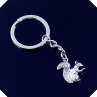 Men Women squirrel bottle holder - new fashion men mm keychain DIY metal holder chain vintage double sided squirrel mm antique silver key rings