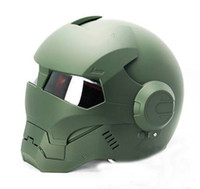 Matte Green MS 610 Atomic-Man motocicleta bicicleta Chopper Storm Trooper DOT Casco