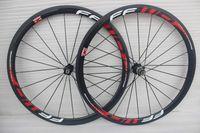 Wholesale Road Bike Wheelset Lightweight - FFWD F4R Carbon Bike Wheels set Carbon Lightweight Rims front 20 rear24 38mm Rim Bicycle Wheelset Clincher Tubular Road Bike Wheels
