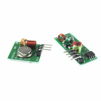 Wholesale Wireless Transmitter Arduino Wholesale - 433Mhz RF transmitter and receiver Module link kit For arduino ARM MCU WL diy 315MHZ 433MHZ wireless