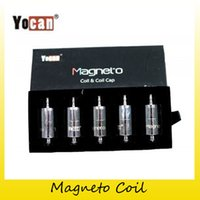 Wholesale Genuine Caps Wholesale - Authentic Yocan Magneto Coil Ceramic Replacement Wax Head with Magnetic Cap Dab Tool Pure Flavour Fit Magnetic Wap Kit 100% Genuine 2204037