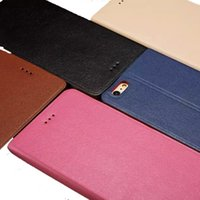 Wholesale Slimmest Iphone Folio Case - For iphone 6s 6 plus Wallet Case Ultrathin Slim Flip Cover Card Slots Folio Kickstand Case Opp Bag