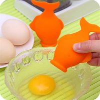 Wholesale New Egg Separator - Innovate Practical New Kitchen Gadgets little fish Silicone Egg Yolk Separator Easy Suction Divider Goldfish Cooking Tools