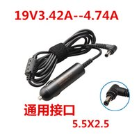 Wholesale Charger Fujitsu - Wholesale- laptop car charger 19V3.42A 4.74A 65W replacement DC power Adapter for notebook 5.5*2.5mm 1piece free shipping