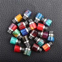 Wholesale Ego Mouth Tips - Epoxy Resin Drip Tip 510 Dripper Mouth for TFV8 Baby Eleaf Melo 3 MINI NANO TFV4 Cubis Melo 2 Ego Aio Kit