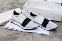 Wholesale Tops Free Shoping - Free shoping Brand Quality Leather High Top Sneakers Fashion and Streetwear Arena Shoes Big Saving Up race white grey sneaker shoes36-46