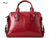 Wholesale Ladies Black Patent Totes - 2017huapin The latest European and American fashion shoulder leather big bag three-layer large-capacity leather ladies bag handbag