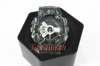Wholesale pin lines - #25 black with lines GA110 Top quality relogio men's sports watches,Luxury brand men LED chronograph wristwatch,all pointers work auto light