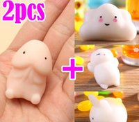 Wholesale 2Pcs Mochi DingDing Squishy Squeeze Abreact Healing Toy Soft Fun Joke Gift Cute