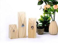 Wholesale Mall Stand - [Simple Seven] Muji Style Jewelry Necklace Display in Shopping Mall High Quality Natural Wooden Jewelry Pendant Trays