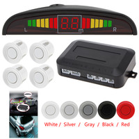 1 Set Car Parking Sensor de aparcamiento 5 colores Parktronic Display 4 Sensores de ayuda inversa Radar Monitor Parking System CAL_200