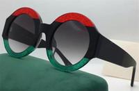 Wholesale Big Round Frame Sunglasses - new fashion women sunglasses 0084S 3colors frame shiny crystal design round big frame hot lady design UV400 lens with original case