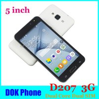 5 polegadas D207 Dual SIM TK6572 Dual Core 3G Desbloquear Abdroid Smartphone Wifi Bluetooth Play Store Smart-Wake WhatsApp Cell Phone 4G ROM