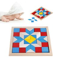 Wholesale Geometry Games - Geometry Tangrams Logic Brain Training Games IQ Wooden Puzzle Kids Toys Gifts