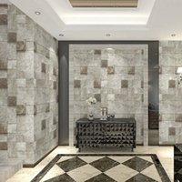 Wholesale Antique Moulding - Wholesale-Antique Egypt Brick Pattern Wallpaper Personality To Do The Old Brick Veranda Porch 3D Bar Living Room TV Background Wallpaper