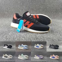Wholesale Top Body Nude - 2017 New Top Quality Iniki Runner Boost Sneakers Fashion Iniki Boost Men Women Blue Red Grey Leather Running Shoes Eur 36-45