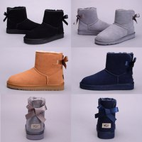 Wholesale Tall Heel Boots For Women - WGG Top Quality Women Australia Classic tall Boots lady girl boots Boot black chestnut ankle boots for women leather shoes US 5-10