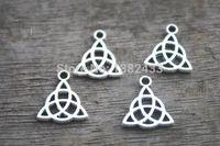 Wholesale Celtic Knot Pendant Wholesale - 180pcs-Celtic-Knot-Charms-Tibetan-Silver-Tone-2-Sided-Celtic-Knot-pendants-Triquetra-Celtic-Triquetra-Knot
