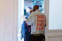 chaqueta 424 kanye west al por mayor-Caliente más nuevo TOP chaqueta de gran tamaño Kanye West ME SIENTO COMO PABLO Denim Coats hiphop miedo de Dios 424 agujero roto jean