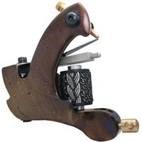 Wholesale Damascus Liner Shader - 5Pcs lot Professional Damascus Tattoo Machine 10 Wrap Coils Iron Cast Frame Custom Tattoo Gun For Liner Shader DTM-7593