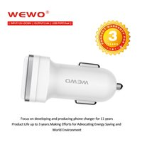 Wholesale 24v Phone Charger - WEWO Car Charger Adapter 12V-24V Input Dual USB Car Charger 2.4A Output Fast charger Car Battery For Phones ipad