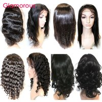 Wholesale Glamorous Brazilian Human Hair Wig Deep Wave Body Wave Straight Kinky Curly Full Lace Wigs Inches Lace Front Wig