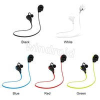 Wholesale Cheap Wireless Sports Earbuds - Cheap Portable Neckband Noise Cancelling Stereo Headset Sport In Ear Earphone Earbuds Running QY7 wireless bluetooth 4.1 headphones 100pcs